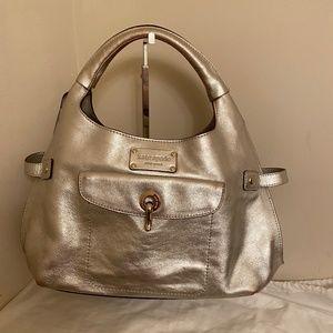 kate spade Silver Leather Hobo Bag